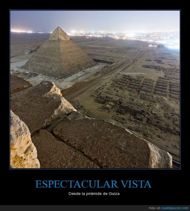 algún dia ire,el ilegal subir asi,Guiza,impresionante,pirámide,vista