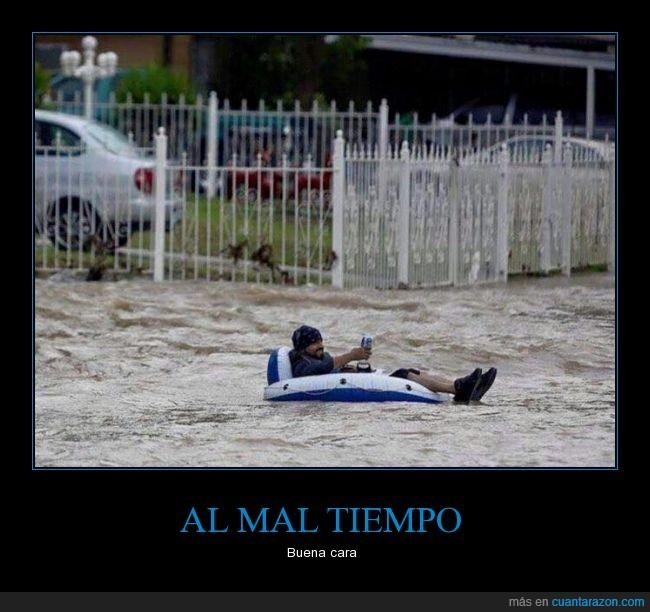 cámara,cerveza,despreocupado,Inundaciones,llanta,San Antonio,Texas,vivir la vida