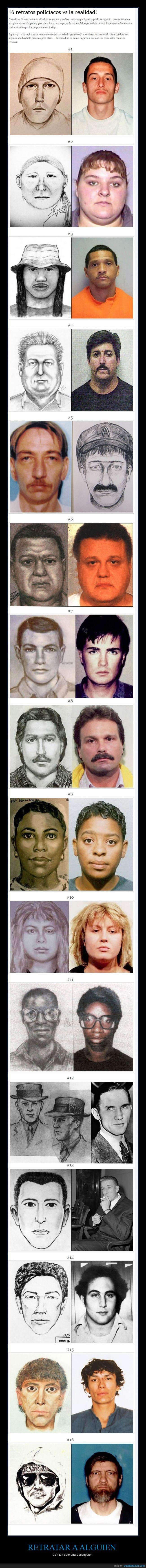 algunos retratos se ven muy bien,criminales,descripción,parecido,policía,retratar,retrato robot