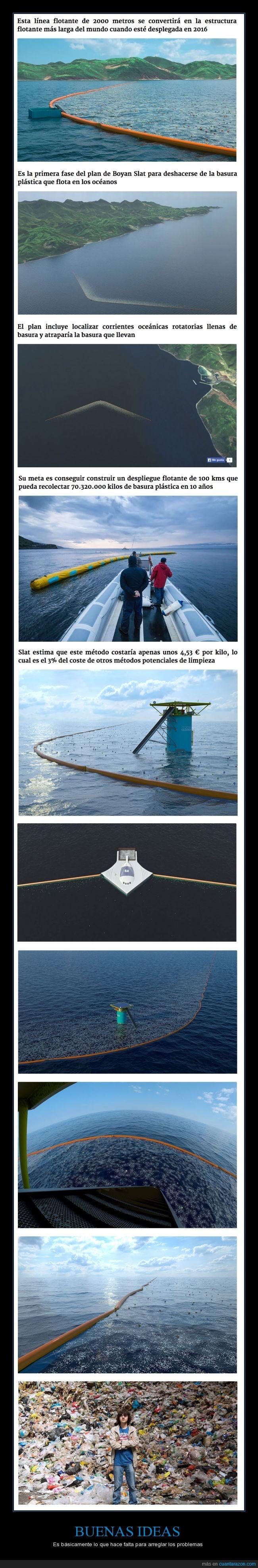 agua,Boyan Slat,ecologico,joven,limpiar,mar,plastico,red,residuo,suciedad