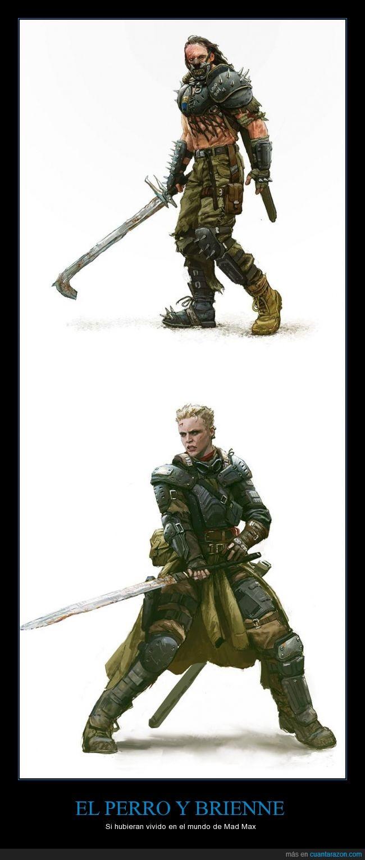 Andrew Domachowski,Brienne,Game of thrones,Got,Hound,jdt,Juego de Tronos,Mad Max,Perro,Sandor Clegane,Tarth