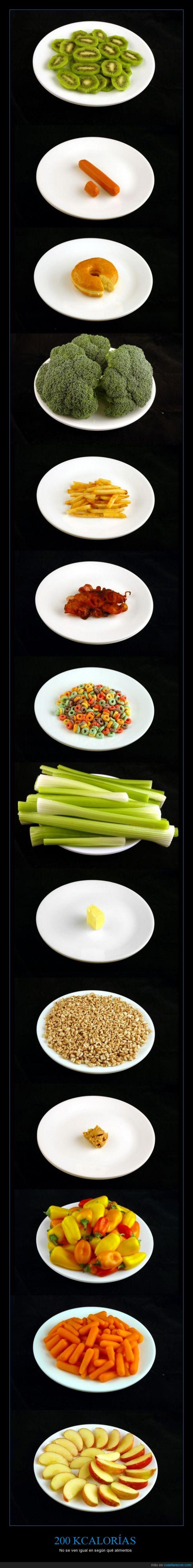 200,adelgazar,caloria,comer,comida,engordar,kcal,kilocaloria,mantequilla de cacahuete,manzana,salud,salud fácil,sano,zanahoria