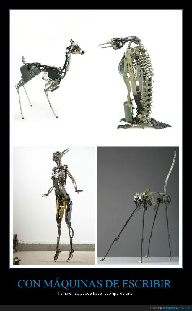Arte,escribir,escultura,figura,hermoso,Maquinas,parte,pieza,reciclaje,trabajo