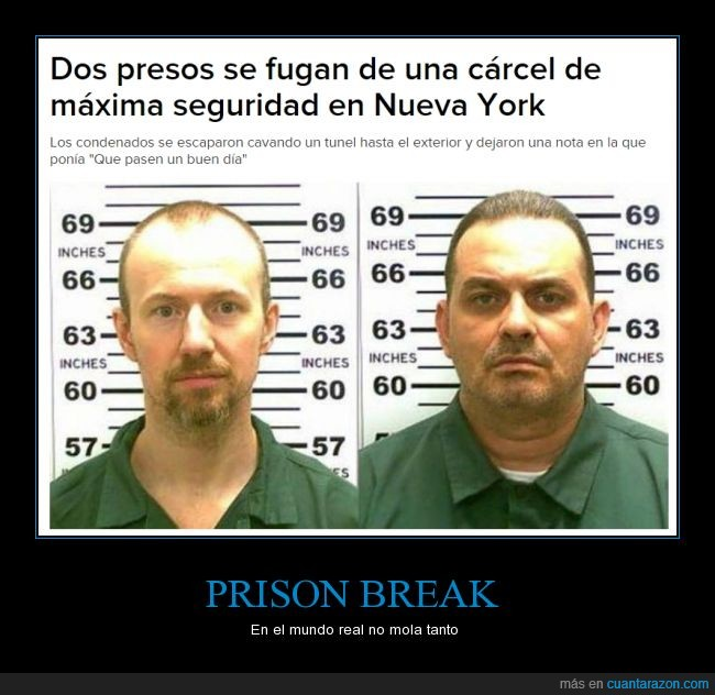 David Sweat,fuga,New York,penal de Clinton,Prison Break,Richard Matt