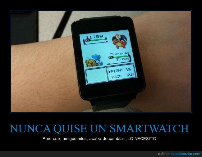 batalla,blastoise,charizard,hora,iwatch,pantalla,pokemon,reloj,smartwatch