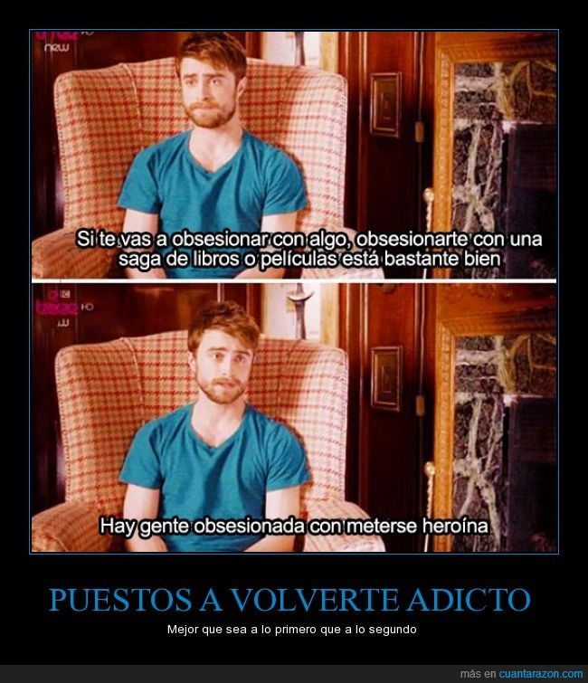 actor,chico,Daniel Radcliffe,droga,harry potter,heroina,libro,mejor,obsesion,obsesionar,pelicula