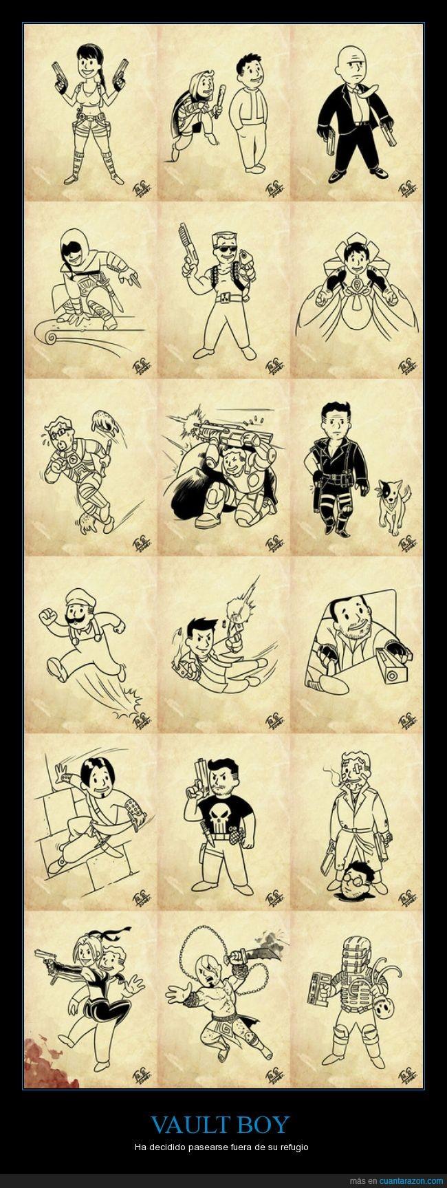 boy,Dead Space,gamer,hitman,Isaac Clark,Kratos,Lara Croft,personaje,Prince of persia,Quake,vault,Vault boy,Vaultboy,videojuego