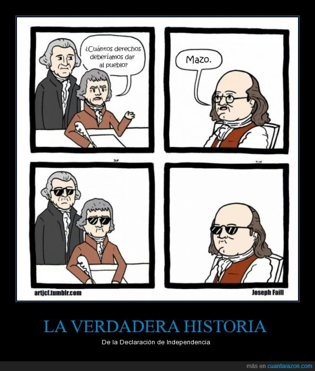 Benjamin Franklin,Declaración de Independencia,Estados Unidos,Historia,Thomas Jefferson,Tumblr