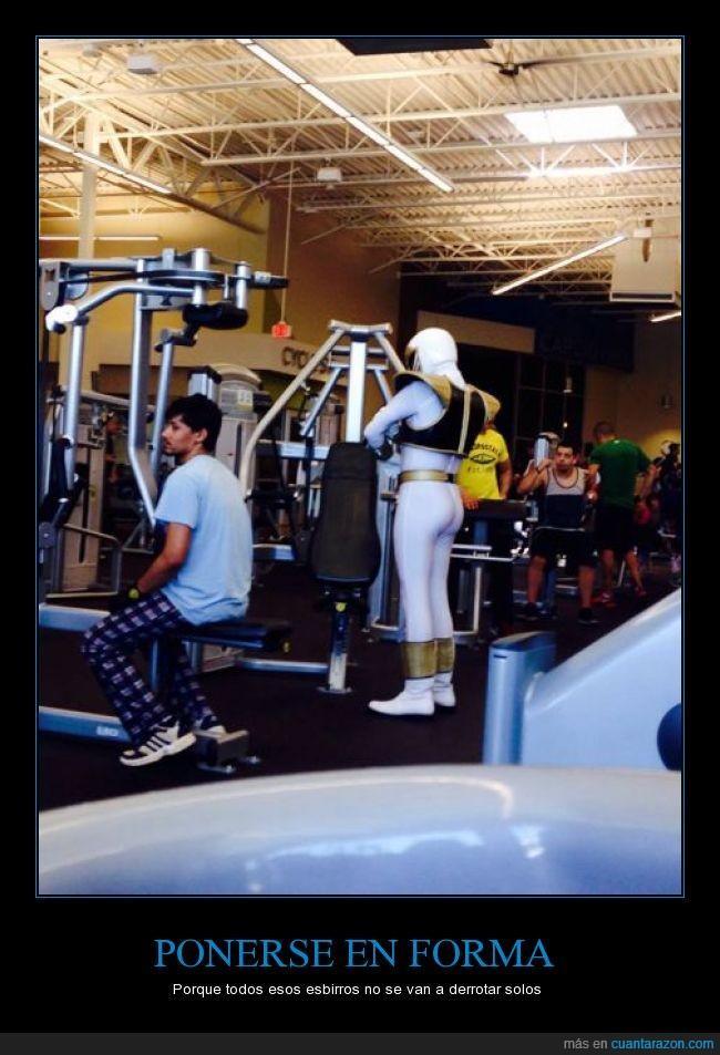 blanco,entrenamiento,entreno,gimnasio,Power Ranger