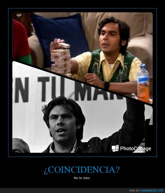 Big Bang theory,Felipe Gonzalez,joven,parecidos,parecidos razonables,Raj Koothrappali,rajesh,tbbt