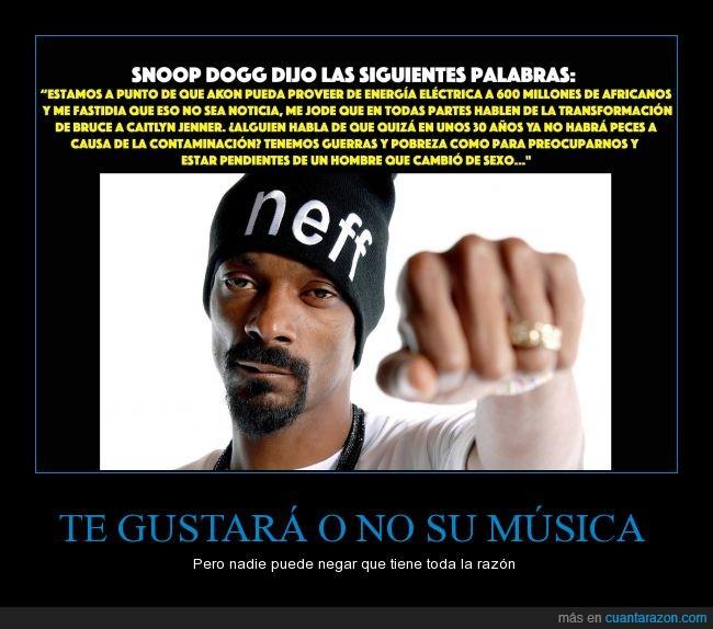 africanos,Akon,Bruce,Caitlyn,cambio,electrica,energia,informacion,Jenner,medios,música,rapero,razón,Snoop Dogg,Snoop Lion,verdad,vergüenza