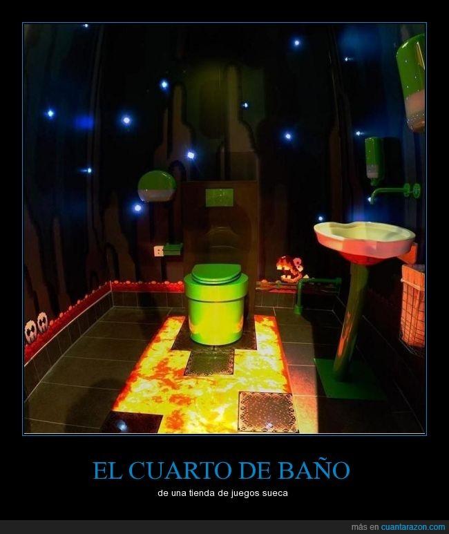 Baño,luces épico,váter,videojuegos,wc