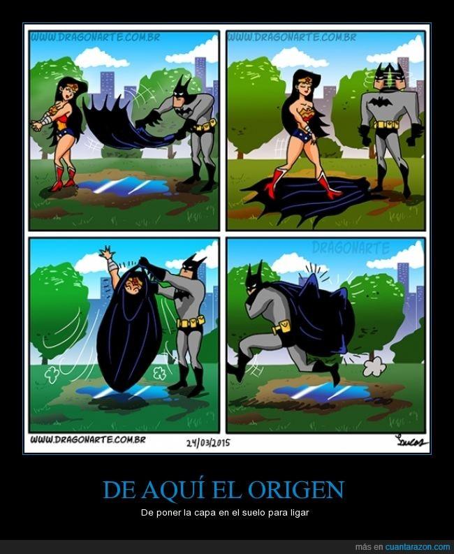 atrapar,Batman,capa,Ligar,Wonder woman