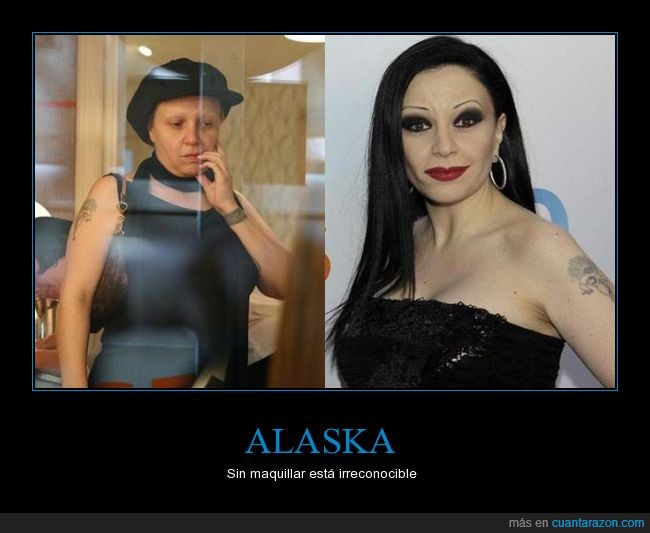 Alaska,cara,cejas,maquillaje,maquillar,Olvido,rara,vieja