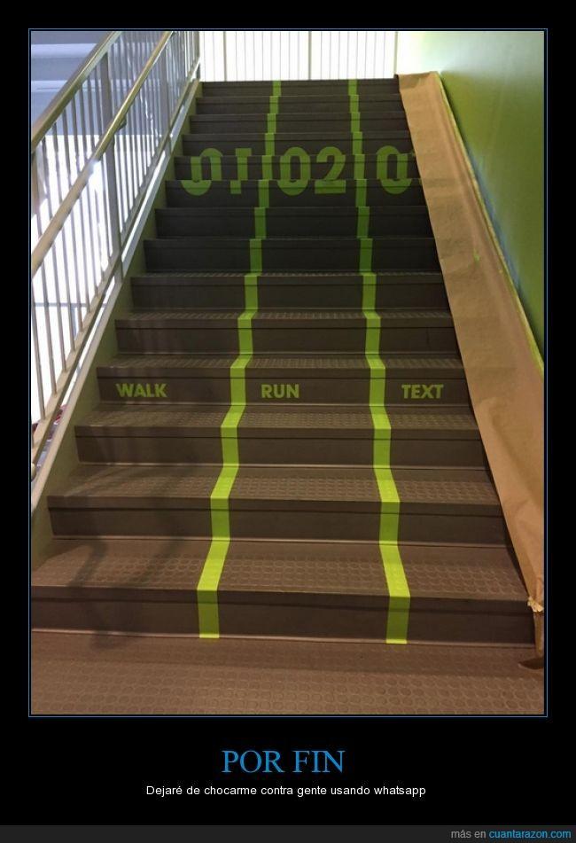 andar,correr,escaleras,mensaje,quiero estos carriles,universidad