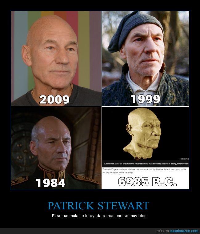 antinatural,edad,evolucion,igual,inmortal,joven,longevidad,mutante,patrick stewart,profesor Xavier,x-men