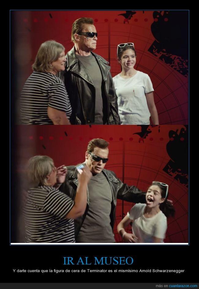 Arnold Schwarzenegger,Madame Tussauds,museo de cera,Terminator Génesis