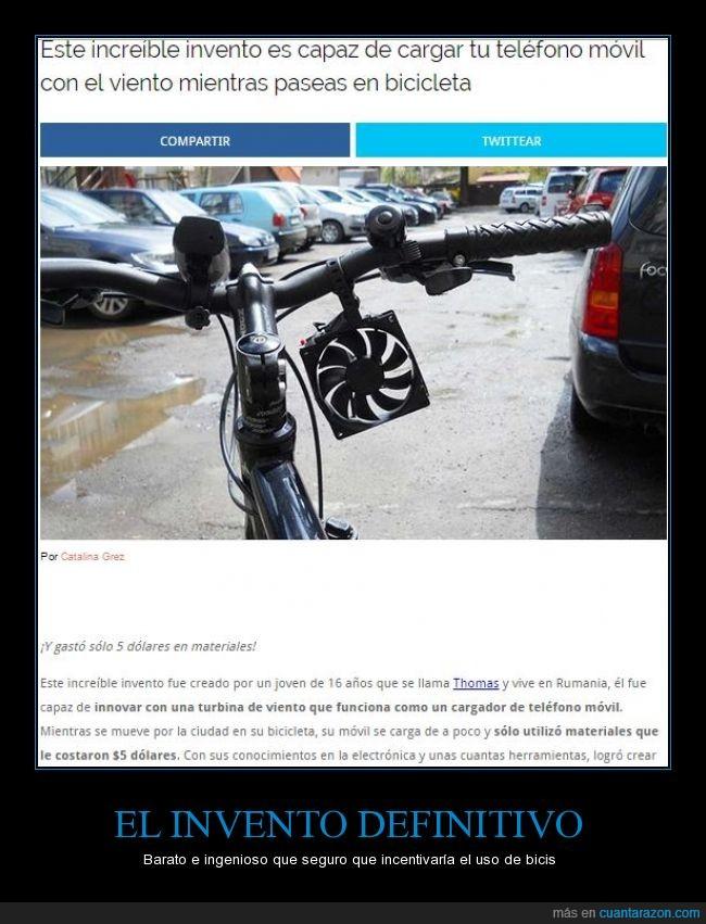 16,barato,bicicleta,cargador,dolares,invento,Paraguay