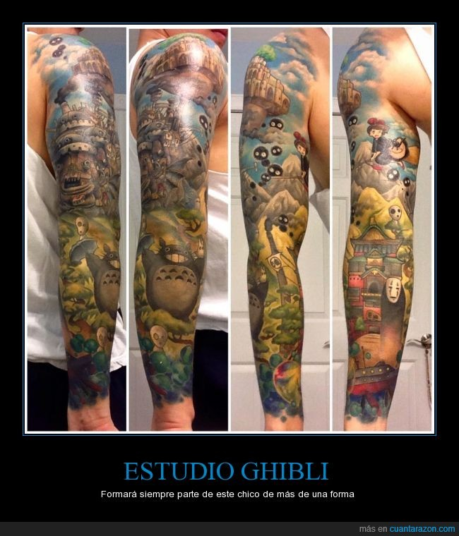 castillo ambulante,chihiro,El Viaje de Chihiro,Estudio Ghibli,Hayao Miyazaki,kiki,mononoke,rostro,susuwataris,tattoo,tatuaje,totoro
