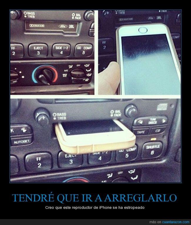 brecha,Casete,cassette,cassettera,coche,funcionar,generacional,iphone,reproductor,tecnología