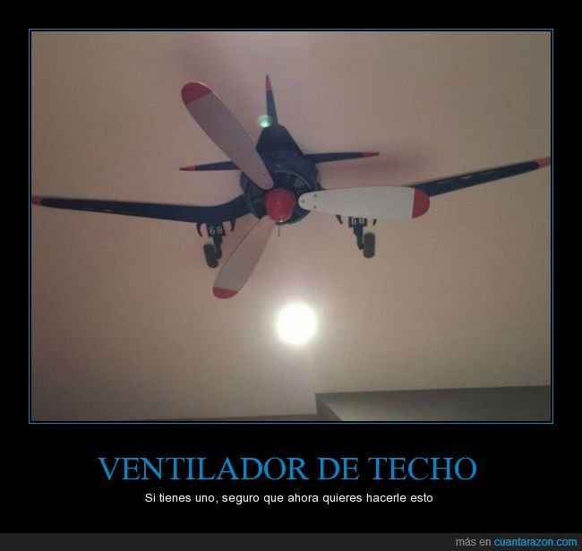 aspas,avion,avioneta,decoracion,pintar,pintura,techo,ventilador