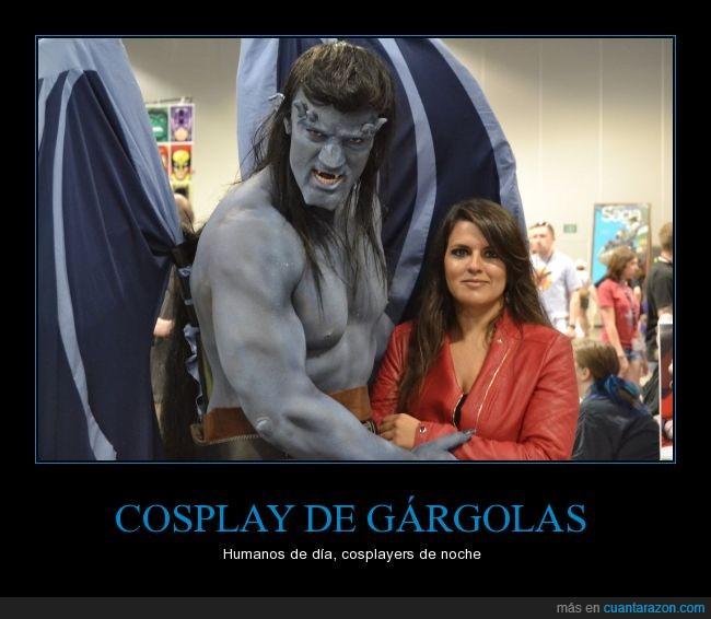 cosplay,elisa,gárgolas,gargoyles,goliath,guerreros,infancia,piedra,series de los 90