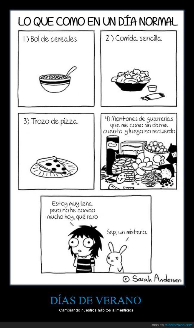cereales,comer,ensalada,pizza,poco,salud,sano,trozo,verano