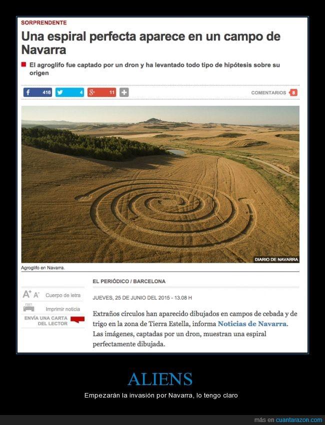 alien,campo,espiral perfecta,et,extraterrestre,Navarra