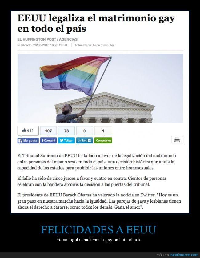 boda,EEUU,Estados Unidos,gay,homo,legalización,matrimonio,país,USA