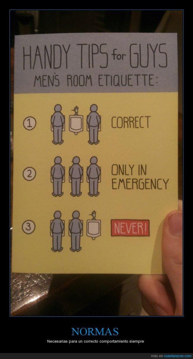 etiqueta,evitar,hombre,inodoro,jamás,lavabo,norma,posición,servicio
