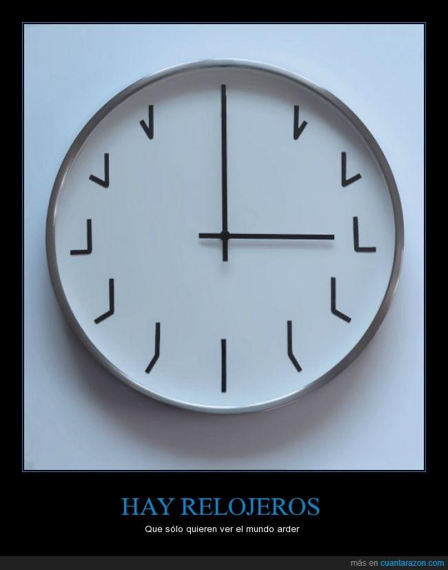 aguja,arder,Batman,forma,hay hombres...,hora,Joker,mundo,Reloj de sol,relojeros,relojes