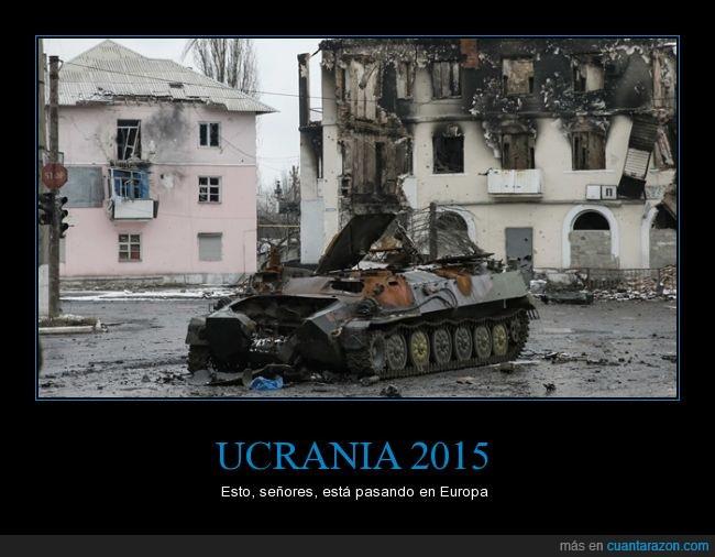 2015,bomba,destrucción,eeuu,guerra,quemado,rusia,tanque,Ucrania
