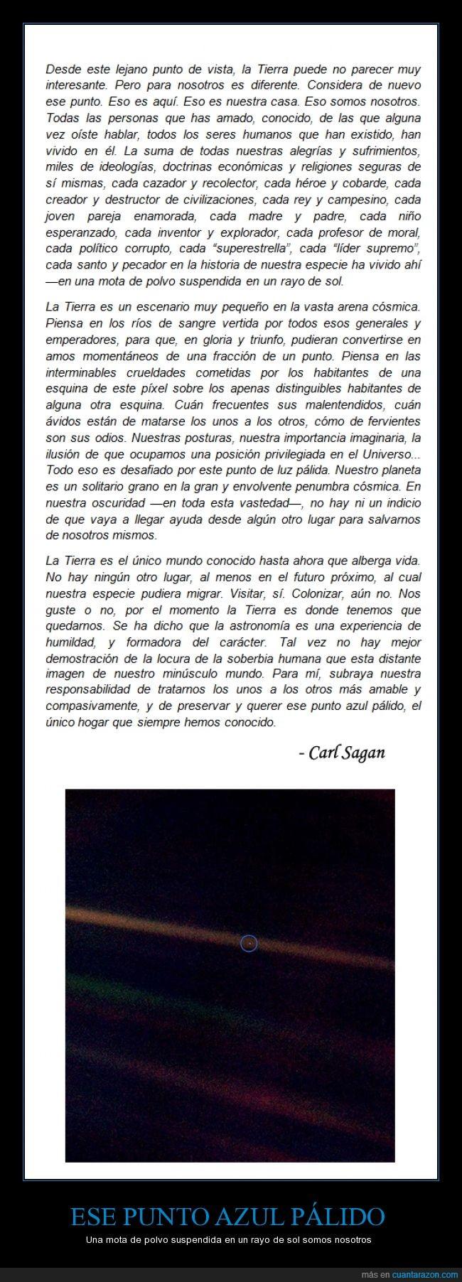 astronomia,Carl Sagan,foto,humanidad,lejos,planeta tierra,reflexion
