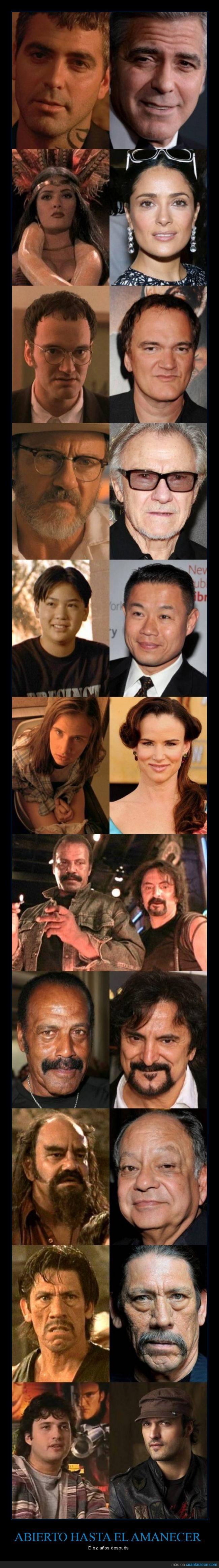 abierto,amanecer,Dany Trejo,dawn,evolucion,George Clooney,hasta,Juliette Lewis,Quentin Tarantino,Robert Rodriguez,Salma Hayek,til