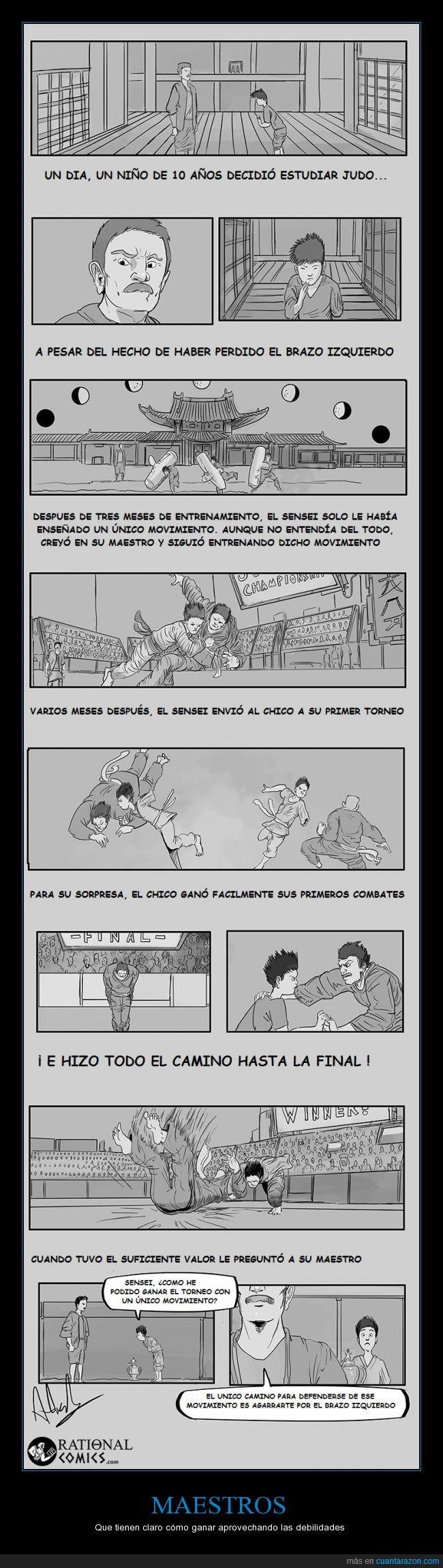 agarrar,brazo,coger,defender,ganar,izquierdo,judo,maestro,perder,sensei