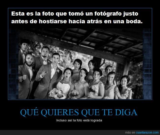 boda,caer,caras,foto,fotografo,medio,novia,novio,preocupacion
