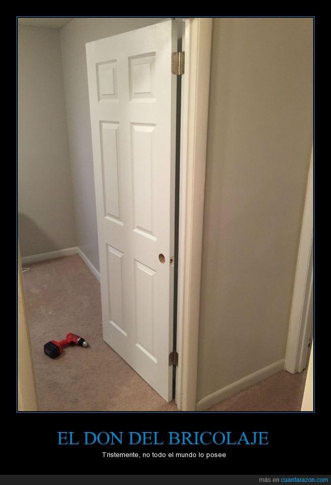 bisagras,casa,error,malo,manitas,puerta,reves,taladro