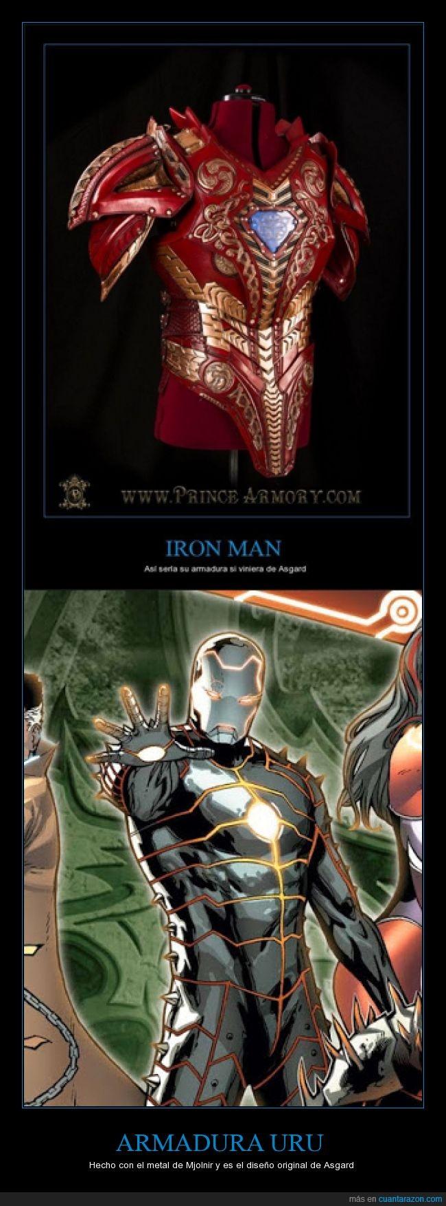 armadura,Comics,Iron Man,marvel,mashup,Mjolnir,Thor,traje,vengadores