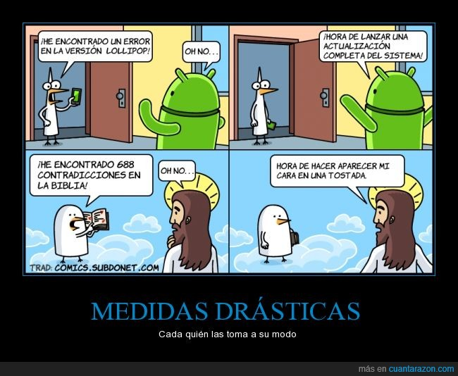 Android,caricaturas,cómic Dibujos,historieta,humor,Jesús,religión,sistema