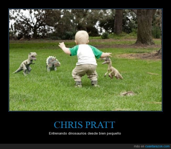 Chris Pratt,dinosaurio,Jurassic World,Raptores