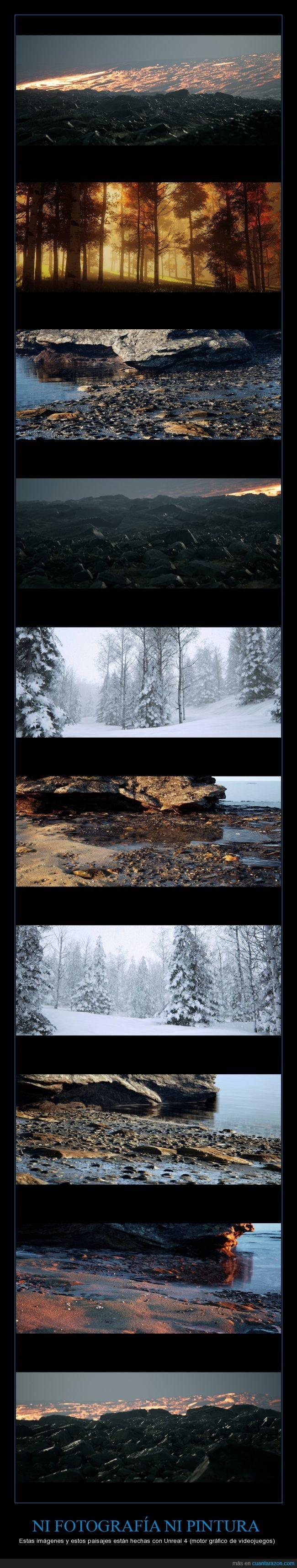 arte,bosque,digital,gamer,montaña,playa,unreal,unreal 4,videojuego