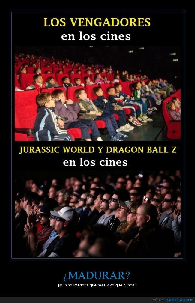 cine,dragon ball,ilusion,jurassic world,niño,vengadores