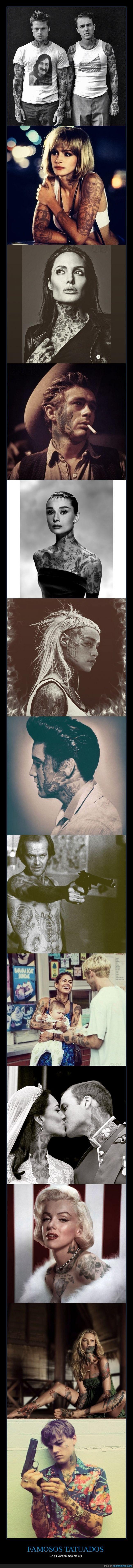 Elvis,Emilia Clarke,eva mendes,famoso,James Dean,Julia roberts,kate moss,Katherine Hepburn,Leonardo Dicaprio,malota,malote,marilyn monroe,principe,tattoo,tatuaje,versión