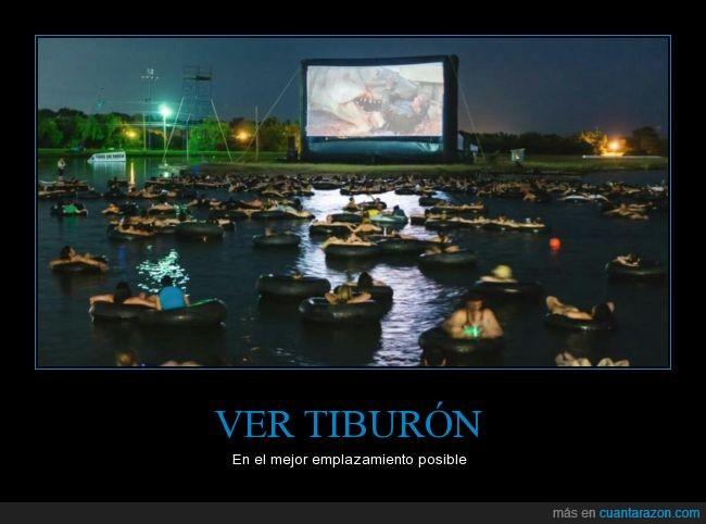 agua,cine,colchoneta,donut,float,jaws,lago,mar,miedo,mojar,película,piscina,Tiburón