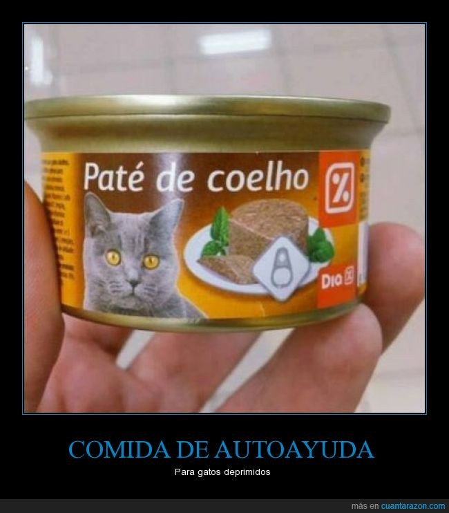 autoayuda,Coelho,comida,pate gato