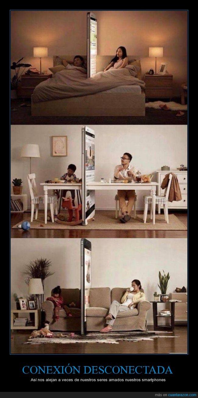 barrera,beijing,cama,china,descoenctar,familia,movil,separar,smartphone,telefono
