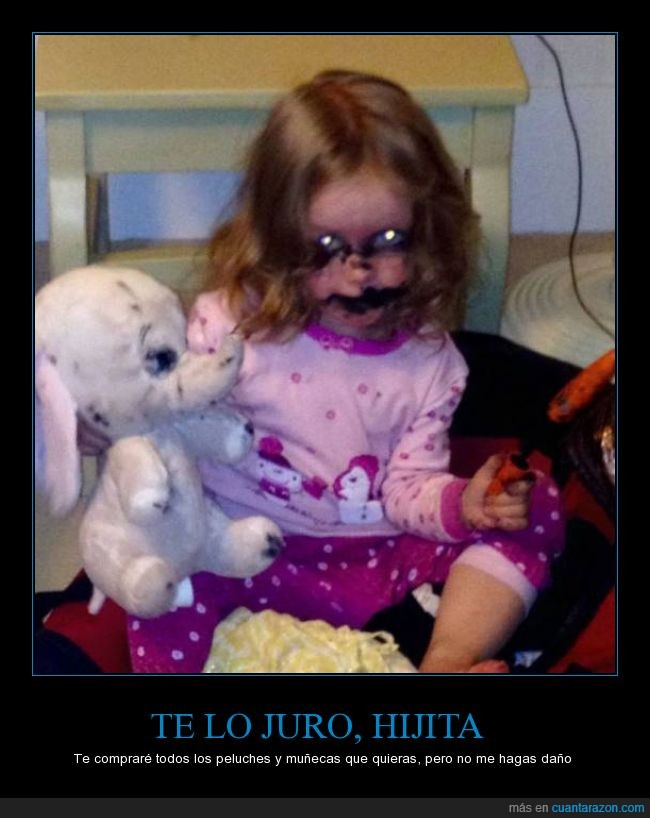 comprar,demonio,hija,mancha,mirada,muñeca,negro,niña,ojos,satanas,tinta