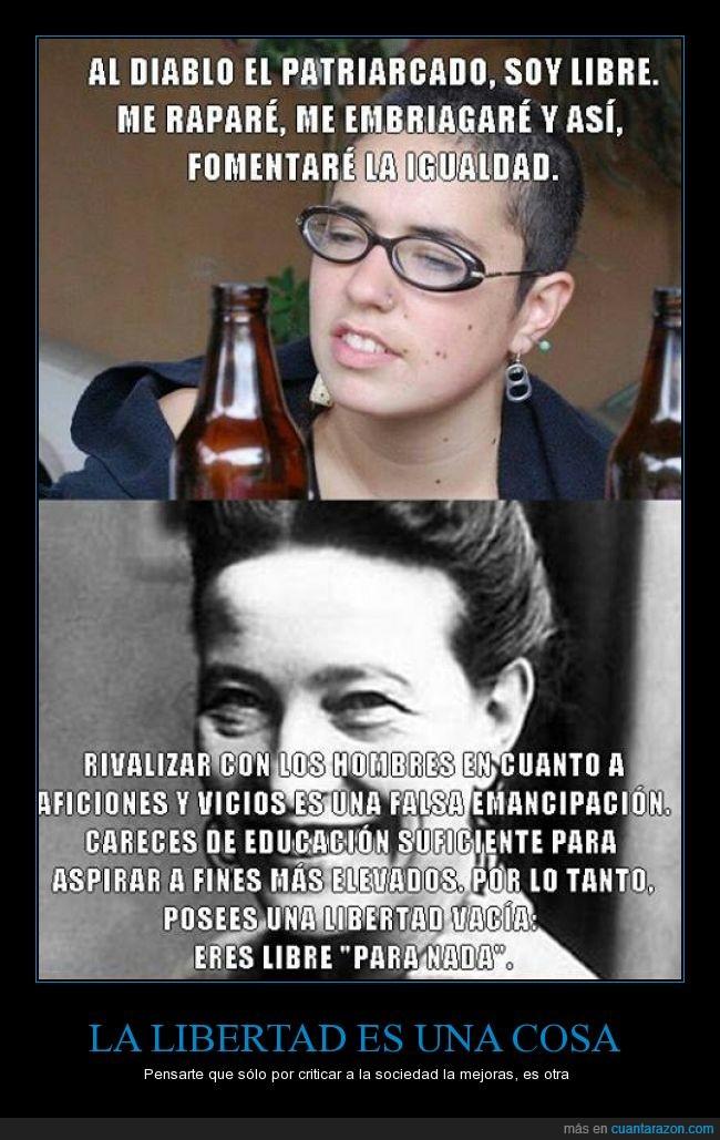 abuso,beber,emancipación,Feminismo,hembrista,igualdad,libertades,machista,vicio