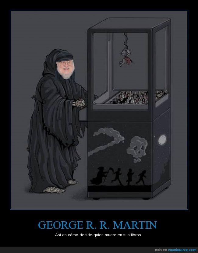game of thrones,gancho,george r r martin,juego de tronos,libros,maquina,muerte