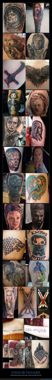 game of thrones,got,jdt,Jon Snow,juego de tronos,Khaleesi,otros,stark,tattoo,tatuajes,Tyrion,valar morghulis